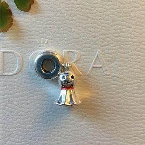Pandora Sterling Silver Dangle Ghost Charm 925 ALE
